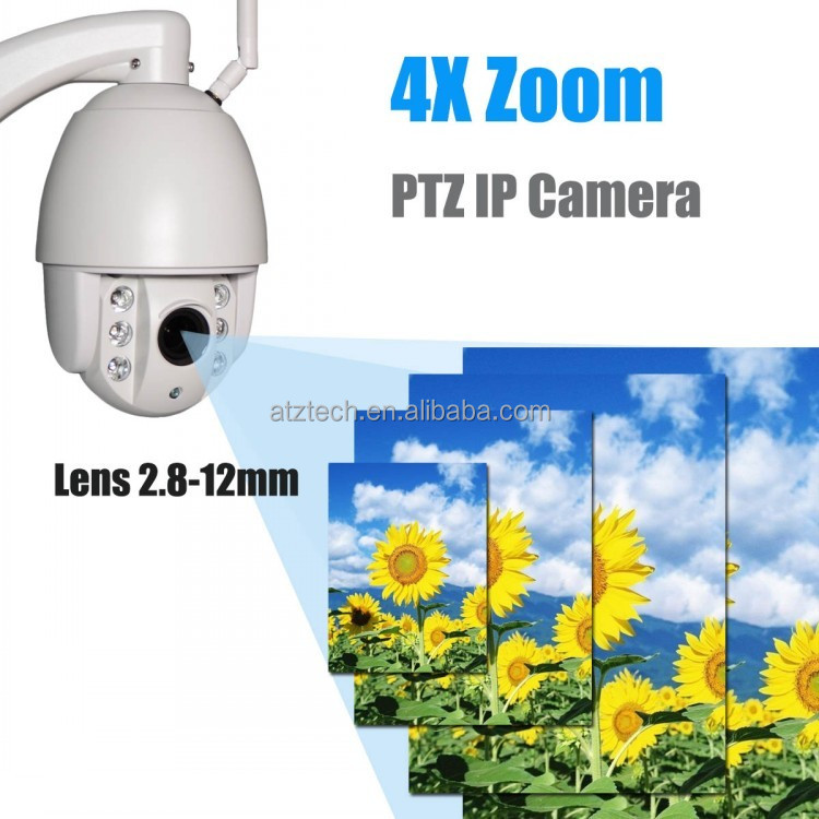 ATZ Smart Security Video IP Camera With 2MP CMOS 2.8-12MM Lens 4X Optical Zoom, Wifi Mini PTZ CCTV Camera