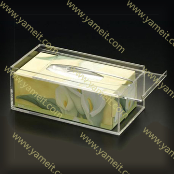 Custom Rectangular Plastic Box Cover Tissue/Napkin