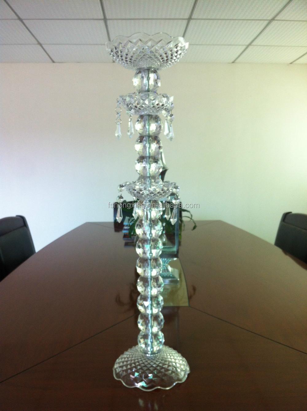Wedding decoration crystal table pillar centerpieces