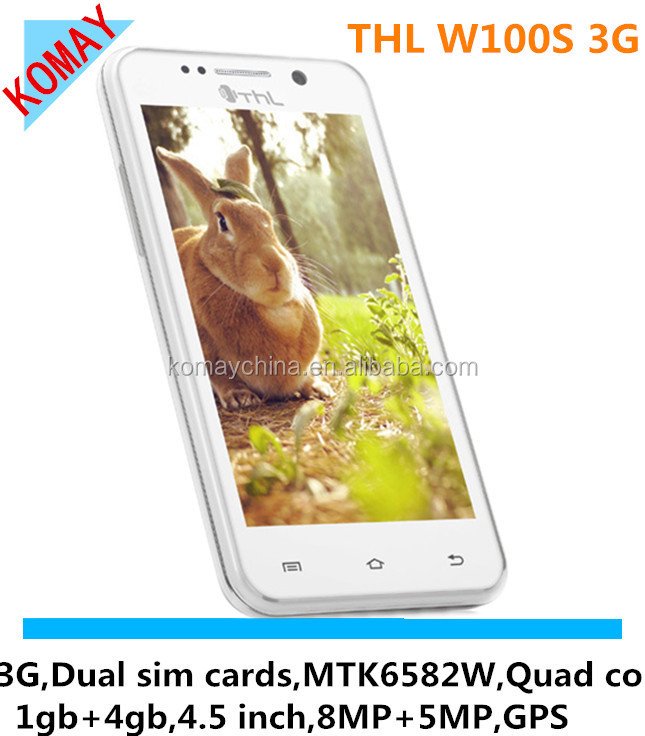 KOMAY New Original THL W100S Quad Core MTK6582M android 4.2 mobile phone