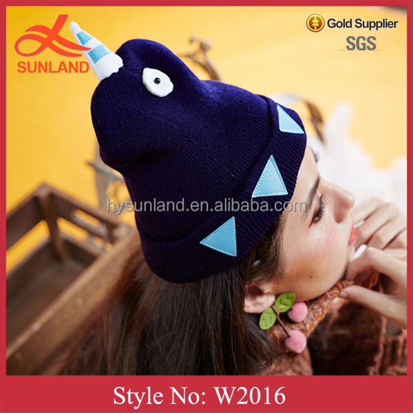 W2016 fashion ladies dress hats wholesale cheap knitted hat christmas knitted hats