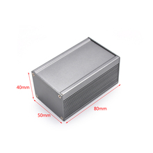 Factory direct sale die casting aluminum enclosure electronic board testing housing case 40(H)*50(W)*80(L)mm