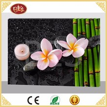 BES New Design Flower Bamboo LED Oil Canvas Painting