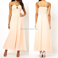 peach color chiffon maxi evening dresses 2013