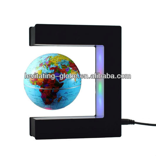 Magnetic levitation photo frame colorful led lights/Floating globe