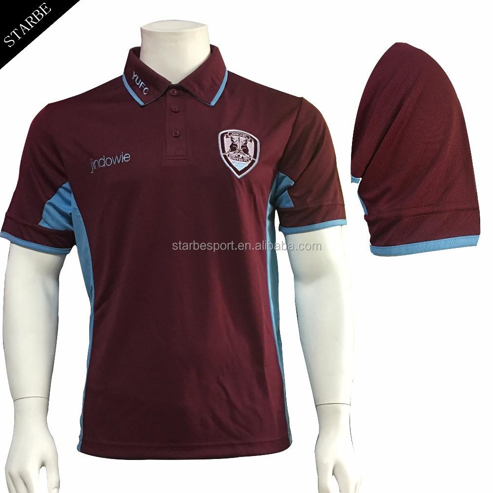 Custom Dry Fit Maroon Club Polo Shirt Wholesale Buy Club Polo