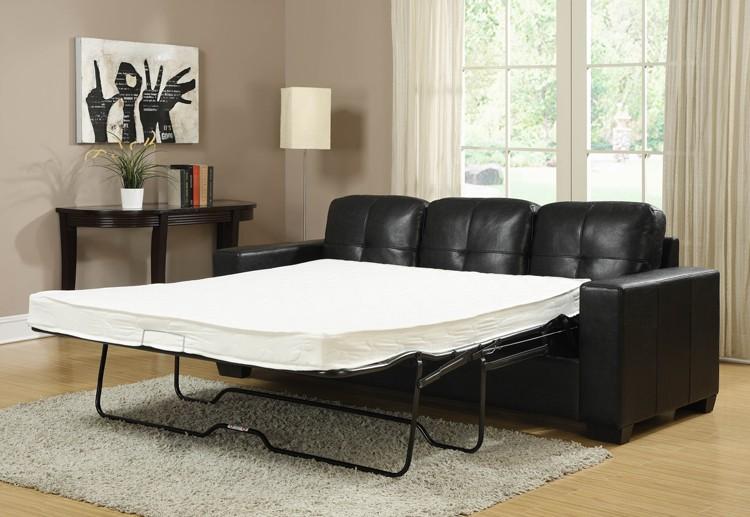 Latest Modern Leather Corner Sofa Bed Design For Bedroom