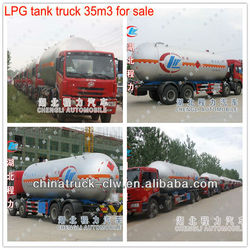 New 35m3 LPG tank truck FAW 8x4 Famous truck for sale