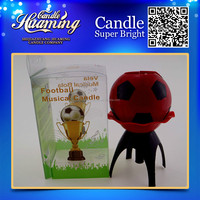 big ball football soccer musical au-rotating candle