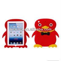 3D Cute Penguin Animal Shaped silicone case for ipad mini