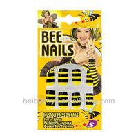 Kids Plastic Fake Nails, Kids Nail Salon, Bee Nails