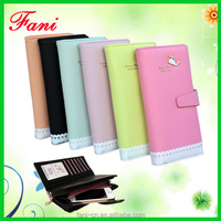 Guangzhou Fani Leather Factory hand craft cheap leather clutch purses for ladies