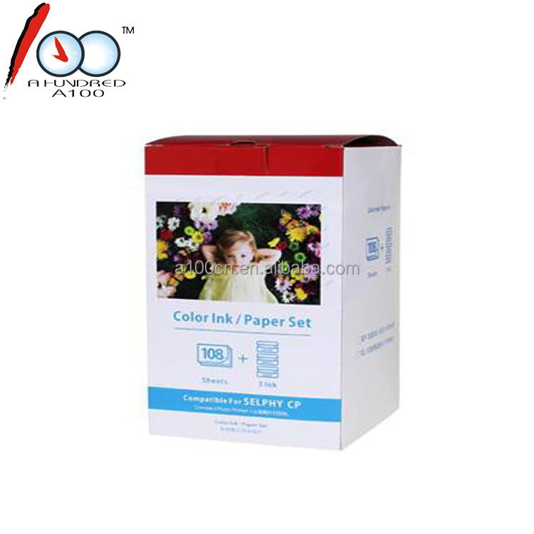 Compatible with Canon KP-108IN 6'' heat sublimation photo paper 108sheets/box