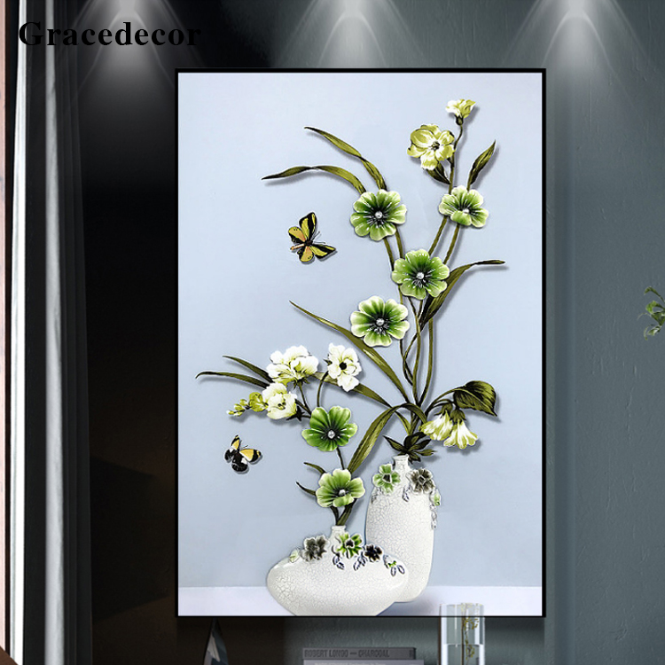 Handcraft Original Design Flower Wall Art 3d Mural Painting For