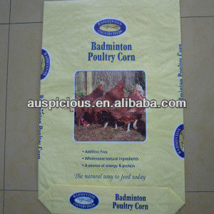 Plastic Animal Feed Packing Bags Chicken Feed Bag