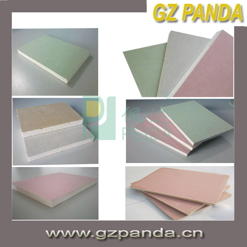 Common Feature and PaperBacked Plasterboards Type gypsum board standard size