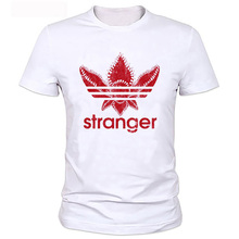 New Street wear Hip hop Stranger Things T Shirt Men Funny Strange Printed T-shirt Plus Size Clothing Custom Own Logo