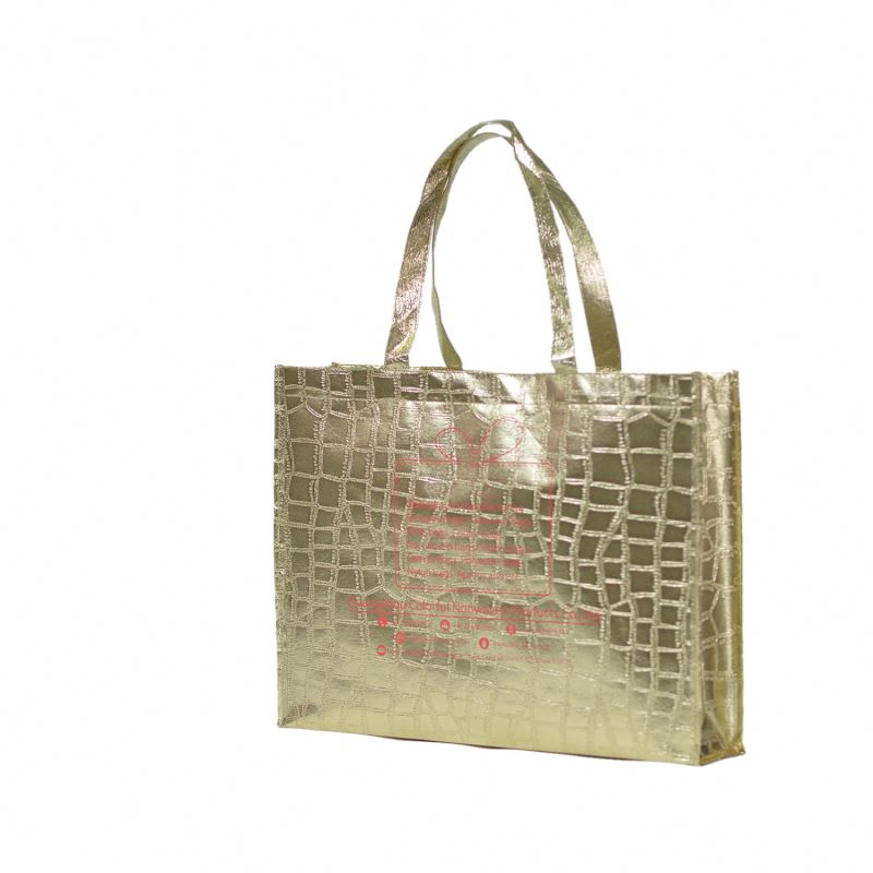 Top quality 2013 fashion silver laminated non-woven tote bag