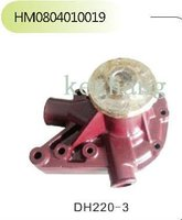 Daewoo engine part,DH220-3 red Water Pump for excavator