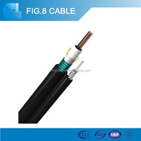 Stranded messenger wire 72 core single mode/ multimode fiber optic cable GYTC8S