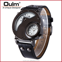 oulm factory watches dual time, watches for men brands, watch double dial