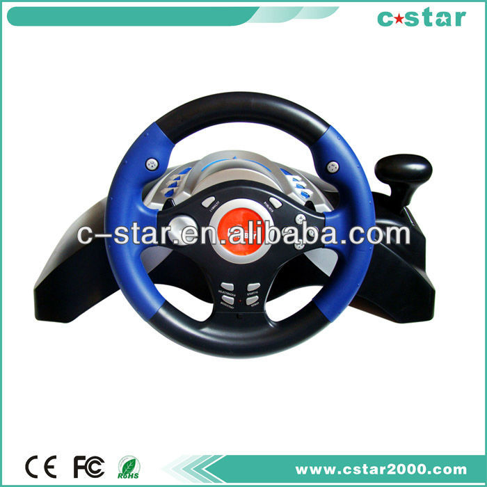 2017 new tooling factory price racing video game steering wheel for PC