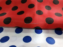 Beautiful and Fancy Design Hometextile Customized Color satin fabric dots printing for Kid's Garment