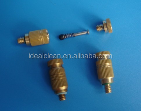 High Pressure Misting Nozzle, Anti Drip, 10/24 thread, Cleanable, Brass Body SS insert