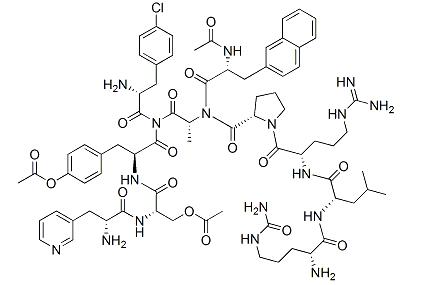 Cetrorelix acetate 99%, CAS:120287-85-6, Generic peptide