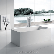 K39 Freestanding solid surface acrylic vertical resin bathtub
