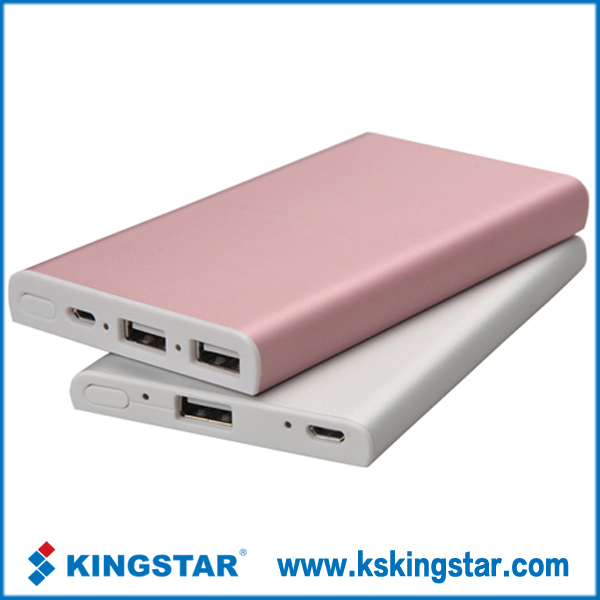 colorful aluminium slim usb power bank