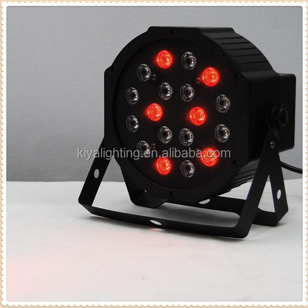 RGB Disco light 18 X 1W Mini Flat LED Par led stage light dubai shopping online