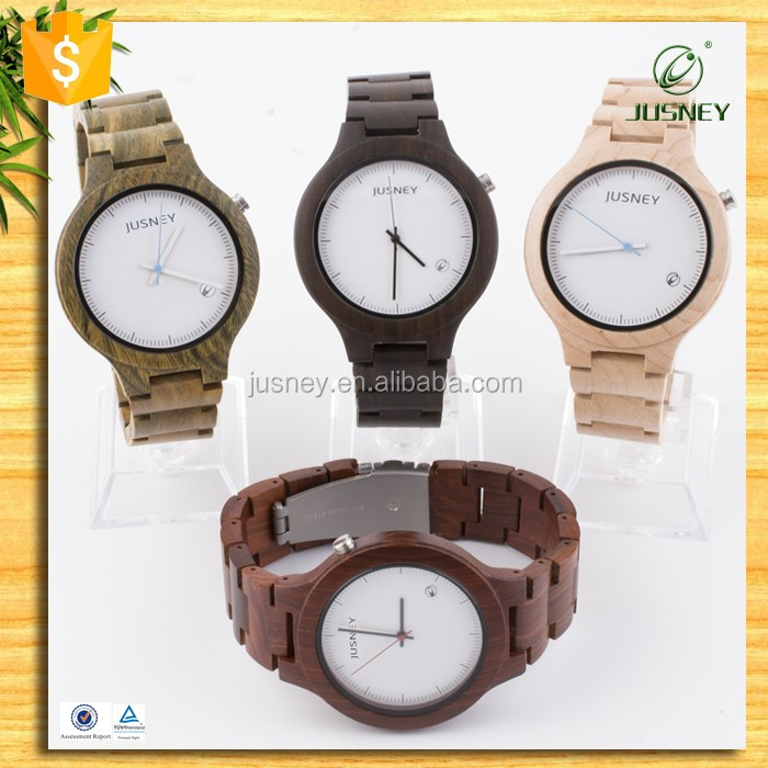charming natural black wood watch vogue wrist wood watch for men with customized logo