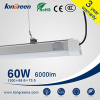 Replacement Fluorescent light fixture PC IP65 LED Tri-proof Light Fixture 12 volt led lighting fixtures
