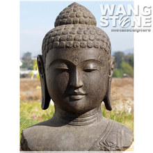 Hand Carved Large Granite Stone Buddha Head