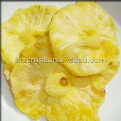 Supply AD air dried fruit well preserved dry pineapple ring for sale