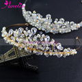 Silver and Gold Plated Factory Sell Pearl & Rhinestones Tiara Wedding Bridal Headband Hair Jewellery