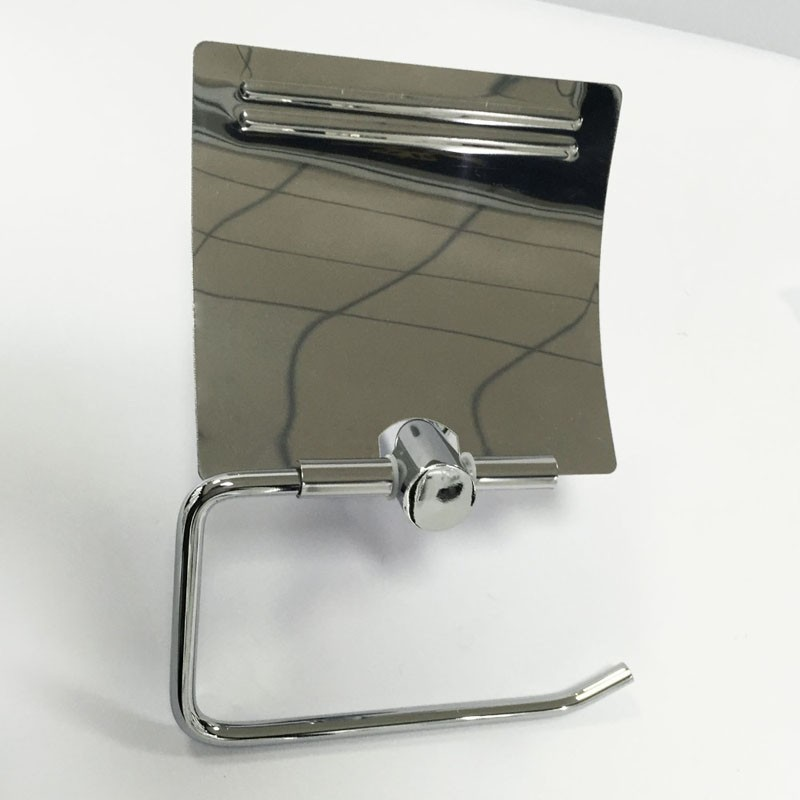 Chrome Polish Wall Mounted Bathroom Tissue Box Toilet Roll Holder Paper Storage With Cover