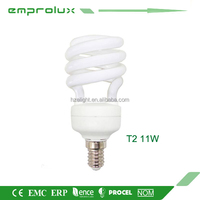 11W Half Spiral cheap energy saving light bulbs Lamp