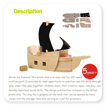 DIY Unfinished Wood Toy Pirate Ship diy kids wooden toys
