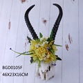 New Resin floral deer antler wall decor for home decoration