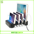 2017 portable 4 port multi usb charge box tablet cell mobile phone charging station