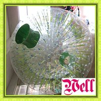 cheap clear or shining zorb ball rental / cheap PVC/ TPU zorb ball