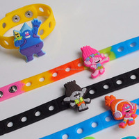SL022 birthday gift trolls adjustable charms silicone bracelet