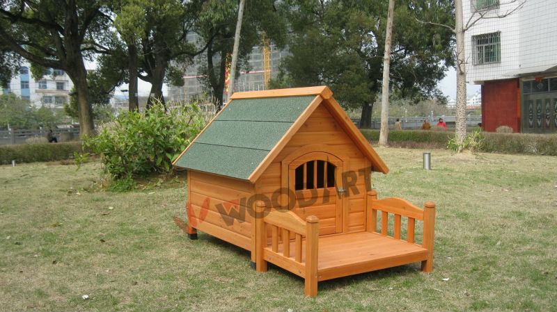 Wooden Dog Kennel with Bed, Waterproof dog cages