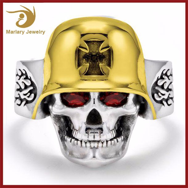 Wholesale The Expendables Single Stone Skull Ring,Stainless Steel Ring Jewelry,New Gold Ring Designs For Men