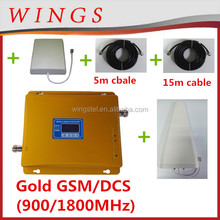 complete set GSM/DCS 900 1800 2g/3g/4g signal booster/repeater 30dBm