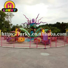Promotion cheap family game 30 seats rotary fiberglass big octopus rides for outdoor amusement parkPromotion cheap family game 3