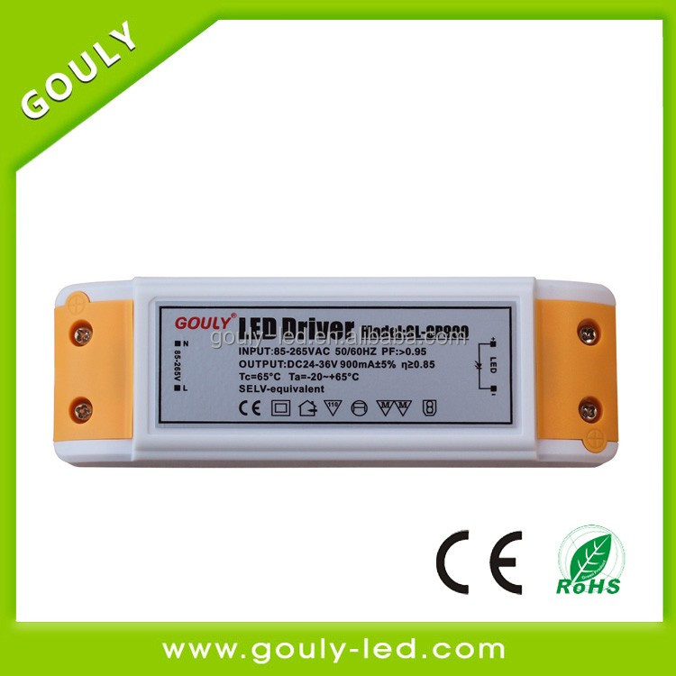 dimmable led Power Adapter 25-36w 24-36v with high efficiency of 87%
