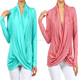 cross over tops wholesale PLUS SIZE women crossover sweater